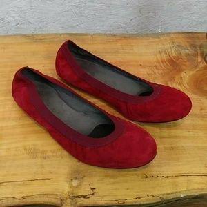 stuart weitzman Red Velvet Flats